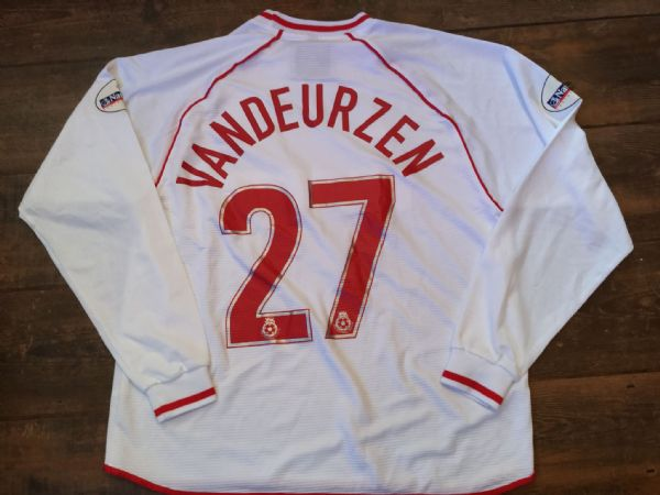 2001 2003 Stoke City Match Worn Vandeurzen Away Football Shirt
